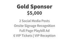 Gold Sponsor for $5,000