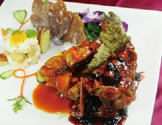 玉蘭活魚餐廳─玉瓜陶板活魚片