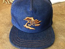 $68USD 14oz DENIM SNAP BACK CUSTOM - ONE SIZE