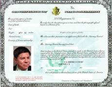 Naturalization Certificate w/ photo