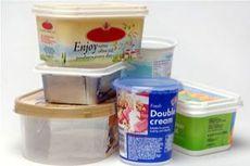 Plastic margarine tubs