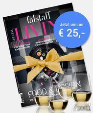 JAHRESABO Living + 4 Riedel Gläser um € 25
