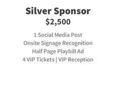 Silver Sponsor for $2,500
