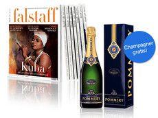Jahresabo für € 59 | 1 Flasche Champagner geschenkt