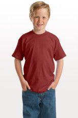 Cotton Blend Youth Shirt DS Logo