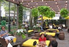 Outdoor lounge, Bryant Park, New York, NY