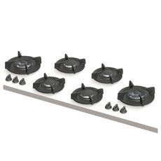 Foessa XL   2x klein, 2x middel, 2x wok-/sudder