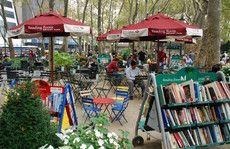 Outdoor reading room, Bryant Park, New York, NY