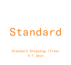 Standard shipping (FREE) → 6-7 days