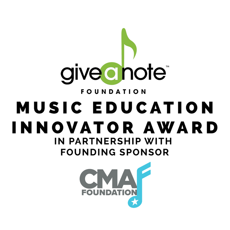 Music Education Innovator Award - Give A Note Foundation