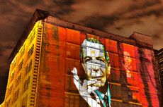 Wall projection, Montreal, QC