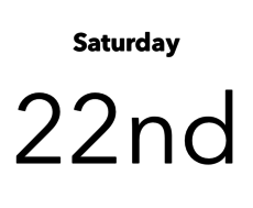 Saturday April 22nd