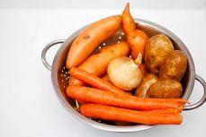 Potatoes, beets, radishes, and carrots