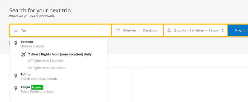 Picture for question IDEA 10: Search With Flight Information - How will it impact the number of bookings?