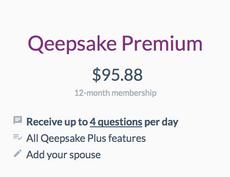 Qeepsake Premium | 1-year upgrade