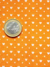 Arancione microcuori bianchi