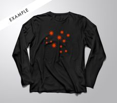 Black longsleeve | Screen print: $45