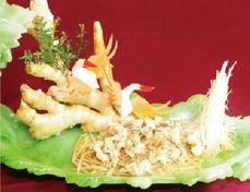 石園活魚餐廳─鱻薑串魚菇