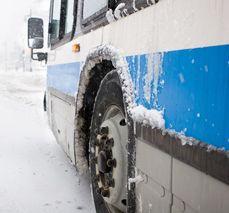 En buss välte.