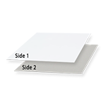 1 Side Coated Paperboard | Shiny White Outside | Grey inside