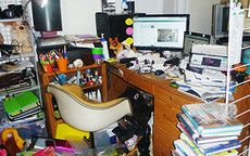 not-so-clean desk