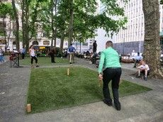 Lawn games, Bryant Park, New York, NY