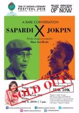 A Rare Conversation Sapardi Vs Jokpin  (*With registration fee)