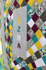 Traditional - Diagonal Patchwork with Name