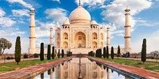 Marveling at the Taj Mahal