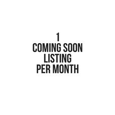 1 coming soon listing seat per month