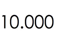 10.000 stuks. €1.500,- ex btw.