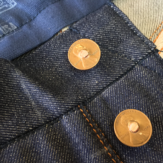 +$15USD VINTAGE PENNY BUTTON FLY