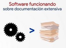 Software funcionando sobre documentación extensiva