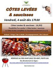 Vendredi 4 août - Côtes levées & saucisses (16.95$)