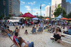 Urban beach, Campus Martius, Detroit, MI