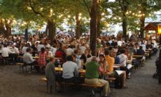 Beer garden, Baden, CH