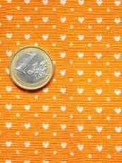 Arancione cuori bianchi