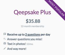 Qeepsake Plus | 1-year upgrade