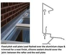 How to flash a fixed pitch lean-to roof