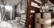 Indoor architecture scene
