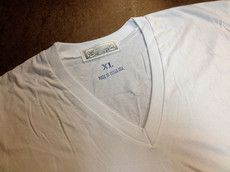 $18USD 4.4OZ TEXAS MADE WHITE V NECK