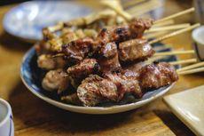 Chicken, beef, and pork