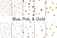 Blue, Pink, & Gold