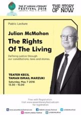 "Public Lecture  ""The Rights of The Living"" by Julian McMahon"