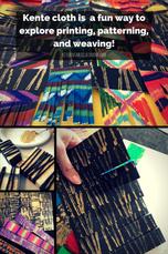 Kente cloth - printing and weaving