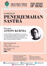 "Workshop ""Penerjemahan Sastra"" bersama Anton Kurnia (*With registration fee)"