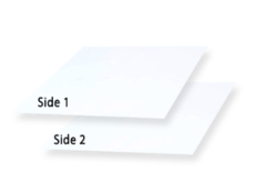 2 Side Coated Paperboard, white  1 side/ white 2nd Side