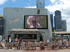 Open air screening, Federation Square, Melbourne, AU