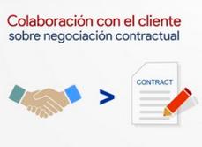 Colaboración con el cliente sobre negociación contractual