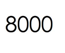 8.000 stuks. €1200,- ex btw.